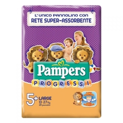 PAMPERS Progressi 5+ Pannolini Large Junior (13-27 kg) - 20pz