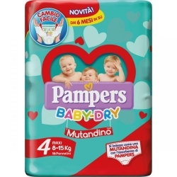 PAMPERS BABY DRY MUT.MAXY X16