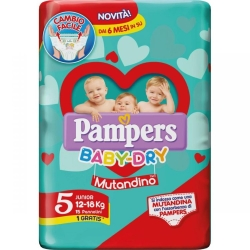 PAMPERS BABY DRY MUT.JUNIOR X14