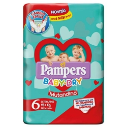 PAMPERS BABY DRY MUT.XL X14