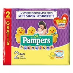 PAMPERS Progressi 2 Pannolini Mini (3-6 kg) - 30pz