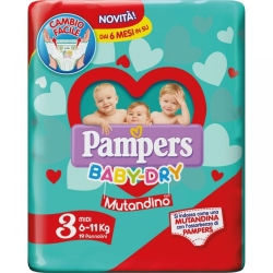 PAMPERS BABY DRY MUT.MIDI X19