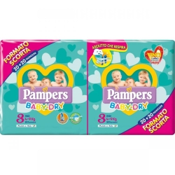 PAMPERS BABY DRY DUO MIDI X40