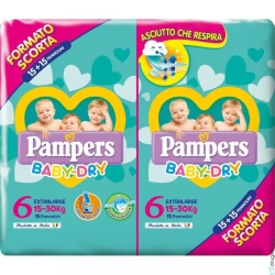 PAMPERS BABY DRY DUO XL X 30